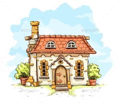 Find Entrance Old Fairytale House Tiles Roof stock images in HD and millions of other royalty-free stock photos, illustrations and vectors in the Shutterstock collection. Art And Illustration, Building Illustration, Watercolor Illustration, Watercolor Paintings, Fairytale House, Watercolor Architecture, Architecture Background, Cottage Art, House Drawing