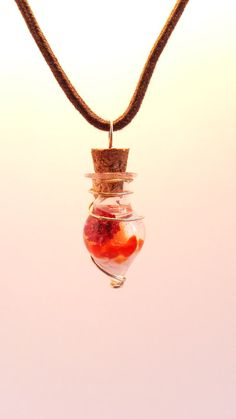 Check out our charms selection for the very best in unique or custom, handmade pieces from our shops. Crimson Peak, Glass Vials, Gold Necklace, Pendant Necklace, Carnelian, Red Flowers, Mystic, My Etsy Shop, Charmed