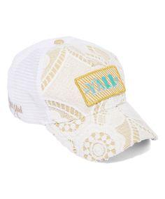0fa0f24f37e21 Gold Stripe  Y All  Patch Crochet Baseball Hat