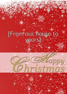 """HelloTurtle Christmas Cards """"Happy Christmas Script"""" personalised card Personalise and send this Christmas card to someone you care about. Same day despatch on orders received before (Mon-Fri) Personalised Christmas Cards, Script, Neon Signs, Happy, Custom Christmas Cards, Script Typeface, Personalized Christmas Cards, Scripts, Ser Feliz"""