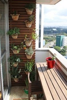 ideias dicas decoracao varandas pequenas 7 Balcony Bar, Narrow Balcony, Balcony Plants, Balcony Design, Balcony Garden, Indoor Garden, Small Rooms, Small Apartments, Small Space
