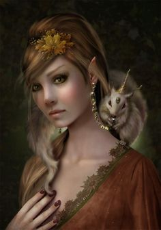 #Incredibly beautiful elf by Sue Marino  Please Follow and Repin! Thanx!! =)