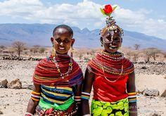Two young brides,  Olturot, Marsabit, Northern Kenya.