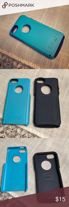 Otter Box 5C Phone Case Blue and navy 2 piece iPhone case, fits 5C iPhone, can be for male or female use, is in good condition with minor wear and tear, price is negotiable OtterBox Accessories Phone Cases