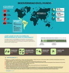 Biodiversidad en el mundo - Cifras de Biodiversidad en Colombia - @sibcolombia
