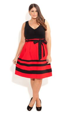 City Chic - So Cute Colour Dress - Women's plus size fashion