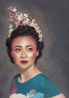 Bridal Crown   Statement Hair Accessory   Statement Headpiece   Crown Inspired by Chinese Bridal Accessories   Wedding Hair Accessories Cheshire   Cheshire, UK   Glorious by Heidi Wedding Hair Pins, Bridal Hair Vine, Bridal Crown, Bridal Tiara, Headpiece Wedding, Bridal Headpieces, Bridal Jewellery, Traditional Chinese Wedding, Butterfly Wedding