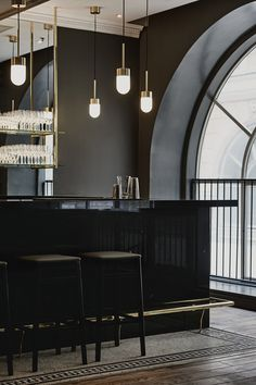 Bar design | black | Vox pendant at Le´Roy in Helsinki
