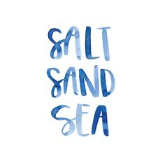 Salt, sand and sea.