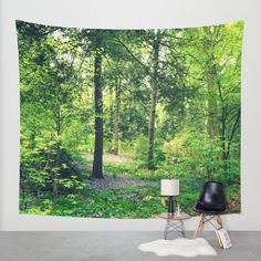 Wall Tapestry  Trees Tapestry Forest Tapestry by 2sweetsGalaxy