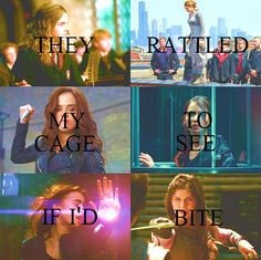 when they released me, they'd see that the answer was yes. - From The Evolution of Mara Dyer.  Hermione, Tris, Rose, Katniss, Clary, Annabeth