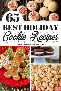 65 best delicious holiday cookie recipes – This Tiny Blue House 65 of the most delicious and best holiday christmas cookies. Easy Holiday Cookies, Holiday Cookie Recipes, Xmas Cookies, Yummy Cookies, Holiday Baking, Christmas Desserts, Holiday Treats, Christmas Recipes, Christmas Cupcakes