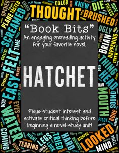 Pique student interest and activate critical thinking before beginning a novel-study unit on Hatchet! $ 3rd Grade Books, 6th Grade Reading, Hatchet Activities, Hatchet Book, Pre Reading Activities, Therapy Activities, Life Skills Classroom, Teaching Materials, Teaching Tools