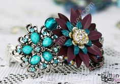 Brooch Wrist Cuff Corsage - Perfect for Bridesmaids, mums etc. $61.50, via Etsy.