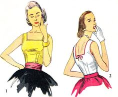 1950s Blouse Pattern Simplicity 4350 Womens Square by paneenjerez, $14.00