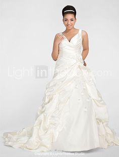 Lanting Bride® A-Linie / Ballkleid Fehlend / Birne / Übergrößen / Rechteck / Apfel / Sanduhr / Stehendes Dreieck Hochzeitskleid - Elegant 2017 - €156.79