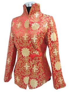 Embroidered silk jacket. Some Chinese embroidery is so delicate that it appears to be painted on.