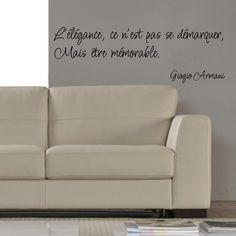 "Stickers ""Lélégance - Giorgio Armani"""