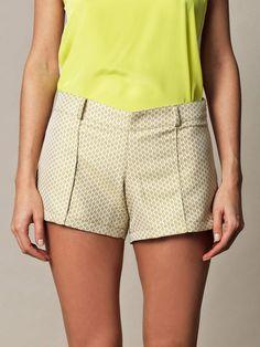 diamond brocade shorts