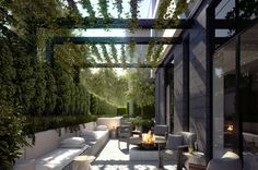 New Charsfield - 478 St Kilda Road, Melbourne Small Gardens, Outdoor Gardens, Outdoor Rooms, Outdoor Living, Small Courtyards, Garden Landscape Design, Landscape Architecture, Outdoor Entertaining, Backyard Landscaping