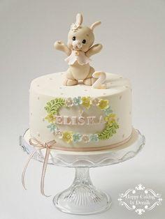 Baby rabbit cake