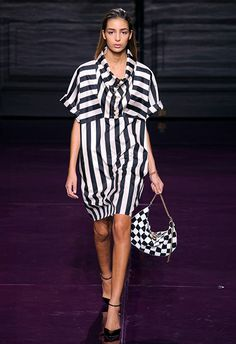 You have Nina Ricci to thank for your sudden inclination to deck yourself out in black and white from head to toe. Undoubtedly the stripiest show of the season, the brand's SS17 collection was a veritable feast of Beetlejuice-esque brilliance. The styling memo? Go full throttle and extend the stripe invite to your accessories