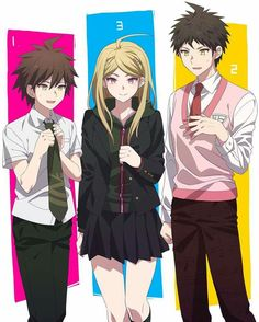 Danganronpa Main Characters. Makoto looks pretty good.