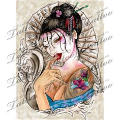 Marketplace Tattoo Geisha #1549 | CreateMyTattoo.com