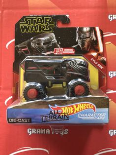 Kylo Ren 2019 Hot Wheels Star Wars Rise Of Skywalker All Terrain Character Cars Mix A Grana Toys In 2020 Star Wars Hot Air Balloon Party Hot Wheels