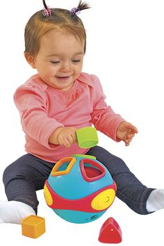 "A timeless classic baby will love! The rolling shape sorter ball plays music and makes fun sounds when rolling and shaking. Ideal for use in preschool, daycare, classroom or home use. Discount School Supply offers a wide variety of developmentally appropriate, high quality, value priced educational teaching tools and toys for the early education market. For children ages 6 months and older. Requires 2 ""AAA"" batteries included. Stem Curriculum, Discount School Supply, Tools And Toys, Play Day, Cause And Effect, Basic Shapes, Early Education, Timeless Classic, Teaching Tools"