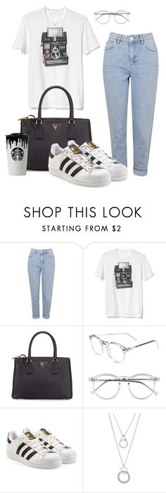 """""""Untitled #226"""" by ducle1910 ❤ liked on Polyvore featuring Topshop, Gap, Prada, Wildfox, Band of Outsiders and adidas Originals"""