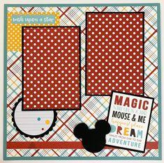 Disney-like Scrapbook Page Kit or Premade Disney Theme 6 image 5 Disney Scrapbook Pages, 12x12 Scrapbook, Scrapbook Page Layouts, Scrapbook Stickers, Scrapbook Quotes, Vacation Scrapbook, School Scrapbook, Scrapbook Titles, Scrapbooking Digital
