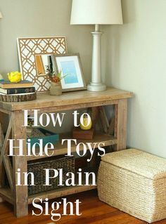 See how to hide all the kid clutter in plain sight by using attractive storage bins, baskets, and wicker trunks. It has been a game changer in our house! ad #guides4eBay