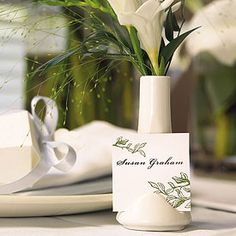 Mini Vase and Place Card Holders  Two in one.....how smart is this