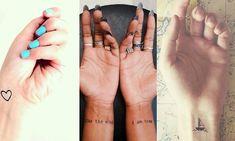 37 Incredible Wrist Tattoos You Need to See tattoos, wrist tattoos, little tattoos, cute tattoos Mini Tattoos, Wörter Tattoos, Tiny Wrist Tattoos, Kunst Tattoos, Word Tattoos, Body Art Tattoos, Small Tattoos, Tatoos, Temporary Tattoos