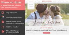 Wedding Bliss - a Unique Wedding WP Theme