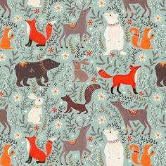 weihnachten illustration Illustration by Tabula Rosi Art And Illustration, Christmas Illustration, Pattern Illustration, Christmas Animals, Christmas Art, Scandinavian Folk Art, Scandinavian Pattern, Motifs Animal, Stuffed Animal Patterns