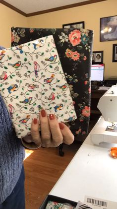 These DIY reversible fabric coasters are the easiest sewing project! This tutorial is perfect for beginners. These fabric coasters are beautiful and functional and would be wonderful little gifts! Fabric Crafts, Sewing Crafts, Sewing Projects, Cath Kidston, Bible Covers, Fabric Book Covers, Book Sleeve, Book Binding, Handmade Crafts