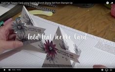 Fold Flat Teepee Card using Grateful Bunch Stamp Set from Stampin Up - YouTube