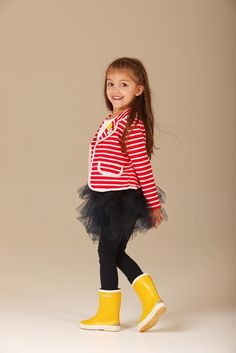 WAS $ 49.95 - NOW $38.00  Oh so smart little girls stripy blazer by Hootkid!  Features blazer styling, button front with mini spot trim and cute badges!  https://www.littlebooteek.com.au/product/hootkid-heading-out-jacket-red