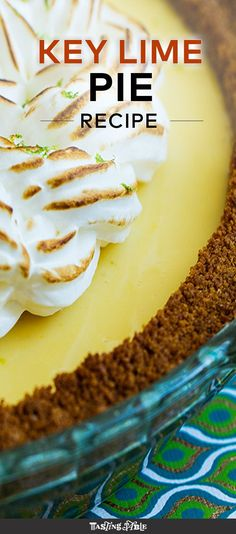 The perfect citrusy, custard pie to enjoy this summer.