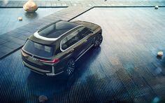 Download wallpapers BMW Concept X7 IPerformance, 4k, new X7, 2017 cars, BMW X7, german cars, BMW
