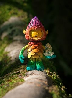 Rainbow Tree Spirit  Golden Magic Acorn. Available from Kickstarter: https://www.kickstarter.com/projects/453211435/muju-tree-spirit-sculpture