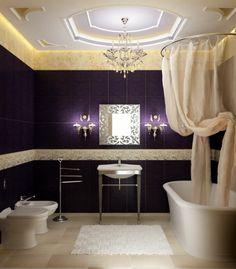Badezimmer ideen für kleine bäderluxus badezimmer  kleine Badezimmer rosa grün stuhl wanne teppich idee   Wohnung ...