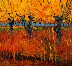 Vincent van Gogh - Willows at Sunset, march 1888