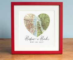 Personalized Gift Art Heart Map Custom by AGierDesign