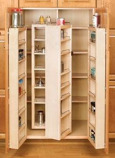 """Amazon.com - Rev-A-Shelf 4WDP18-57 57"""" Pantry Door Unit (with Hardware) Single - Wood - Maple - Cabinet Pull Out Organizers"""
