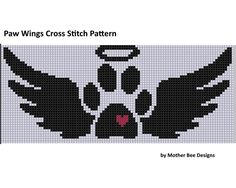 Paw Wings Cross Stitch Pattern  r | Craftsy