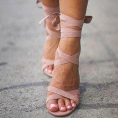 Sage Block Heels
