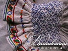 Ukraine, from Iryna Embroidery Needles, Hand Embroidery Stitches, Embroidery Fashion, Embroidery Applique, Embroidery Designs, Punto Smok, Fabric Manipulation, Sleeve Designs, Smocking